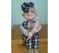 Текстильная кукла Гриша