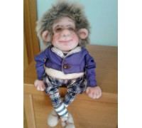 Текстильная кукла Жора